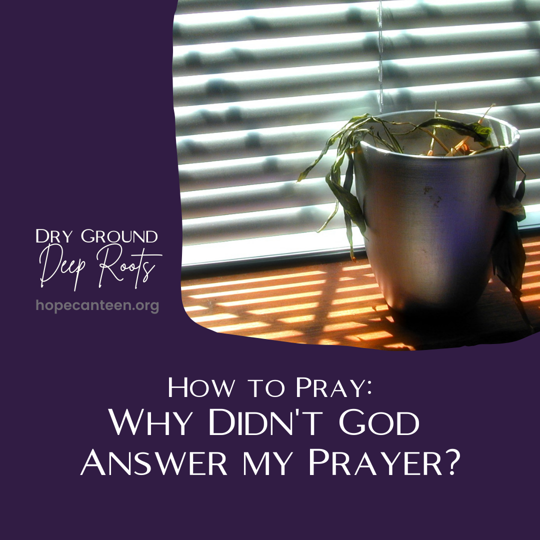 Why didn't God answer my prayer?